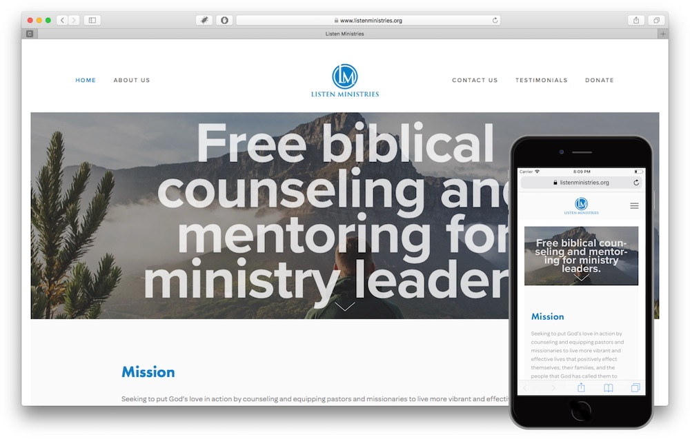 Listen Ministries Website