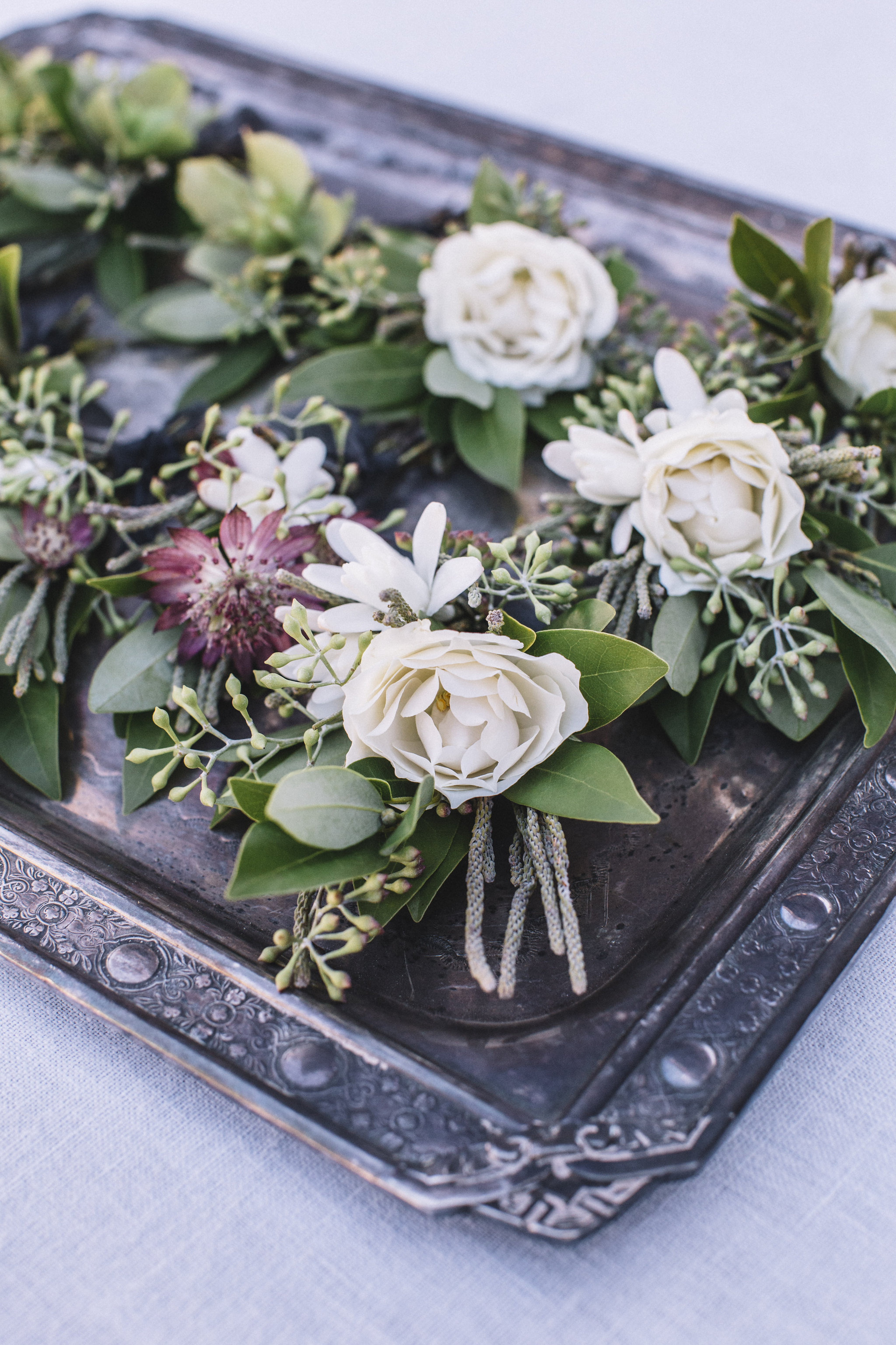 Venn Floral Boutonnieres | Photo by Lucille Lawrence