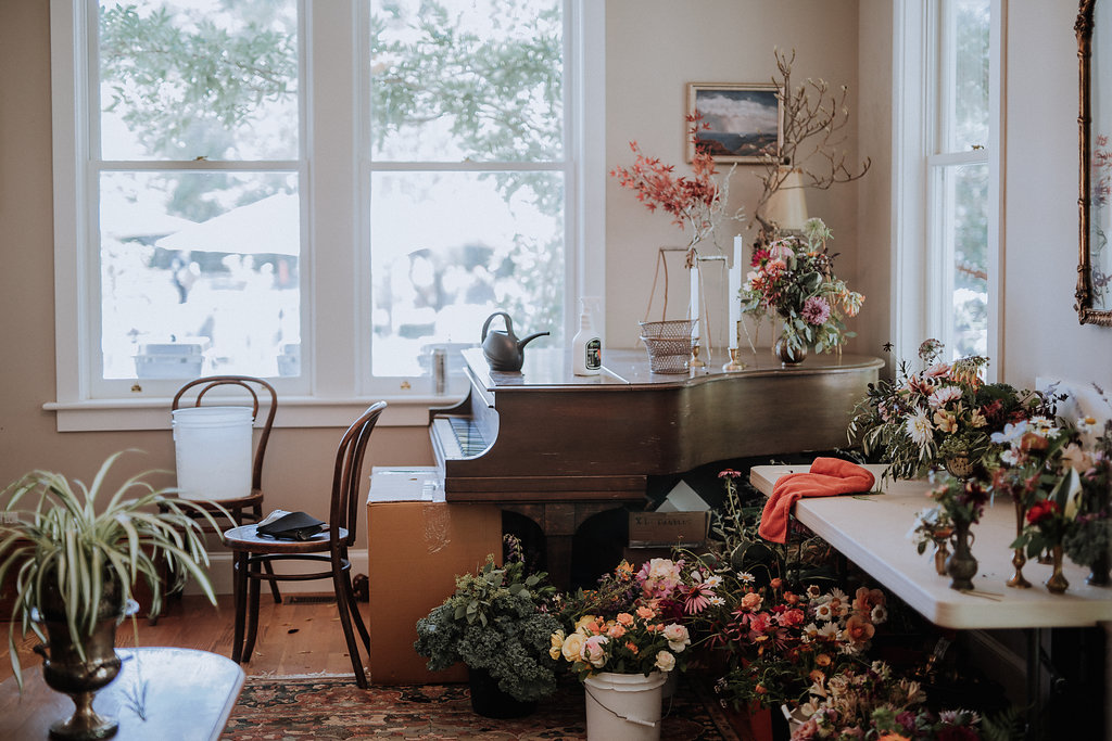 Photo by  Gretchen Gause making our work room look oh so pretty at Rowan Farm. It's always fun to see your behind the scenes work captured through someone else's lens.