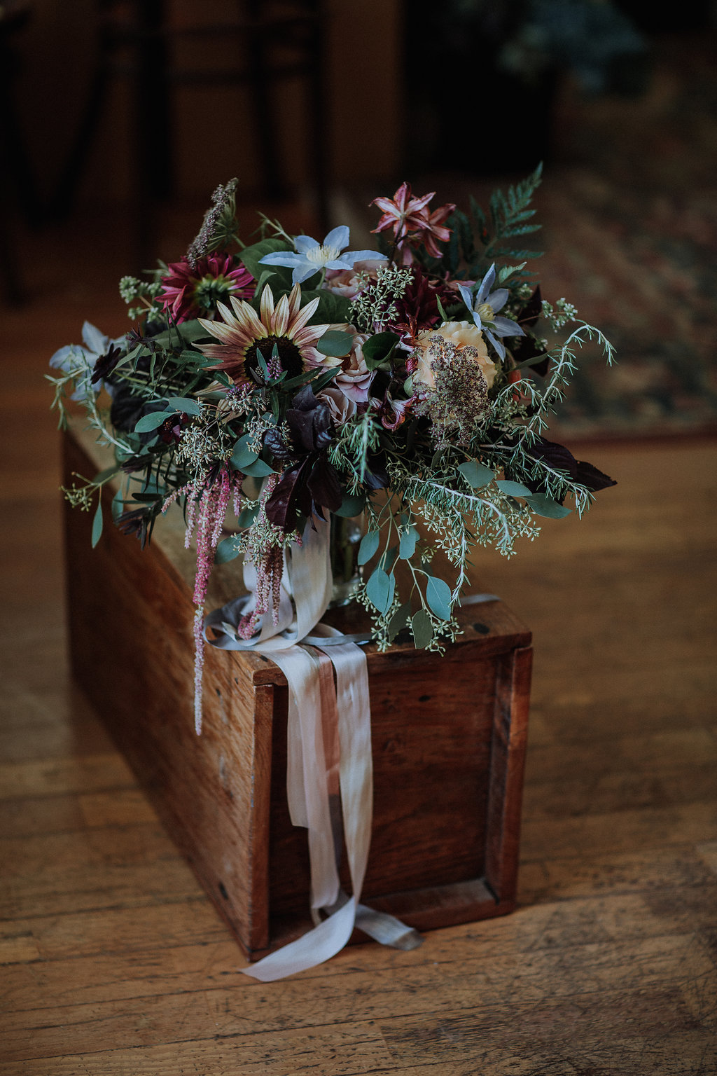 A dear one. Bouquet for Camille's sister this year at her parent's farm. Photograph by Gretchen Gause.