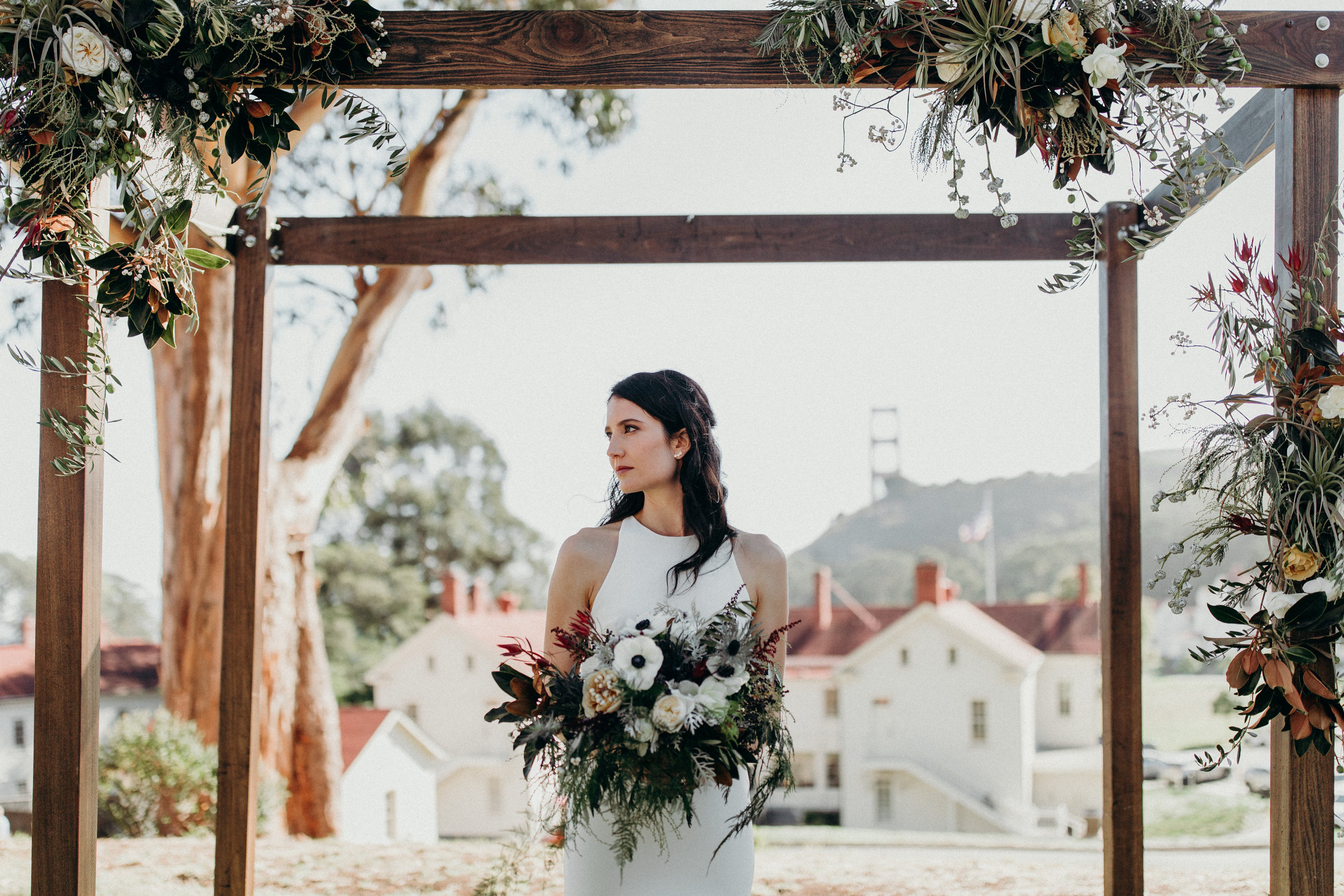 Dreamy view from this ceremony site at Cavallo Point. This day was all around perfect, and we are so happy to have met one of our new favorite photographers on this one,  Ryan Chard Smith .