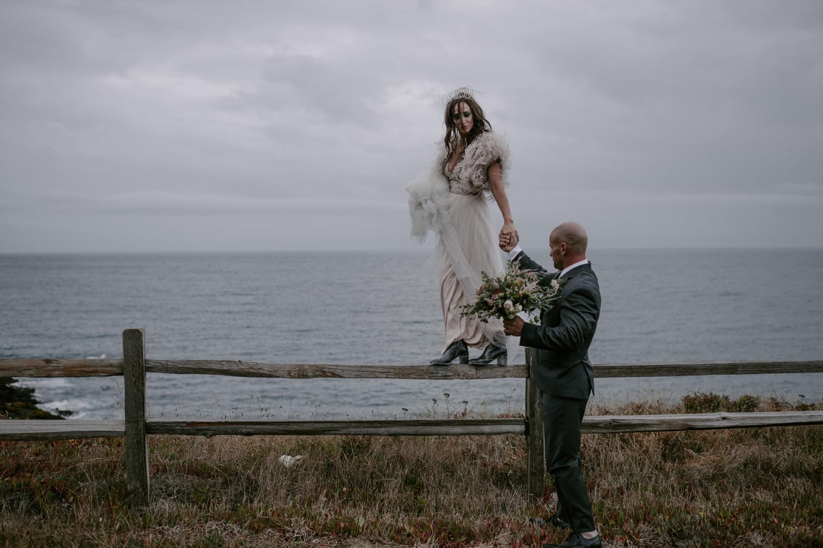 Modern Mendocino wedding by Venn Floral and Kristen Marie Parker at Heritage House Resort