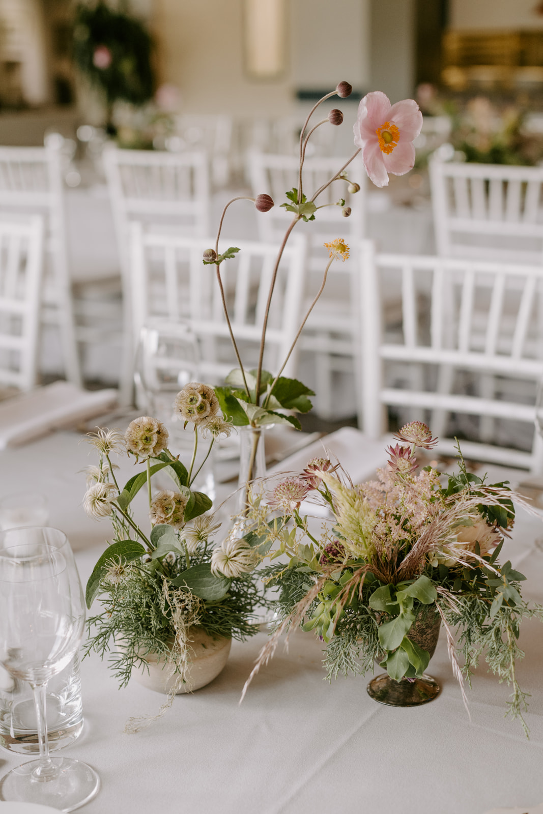 Fine art wedding flowers in light earth tones by Venn Floral photographed by Kristen Marie Parker in Mendocino.