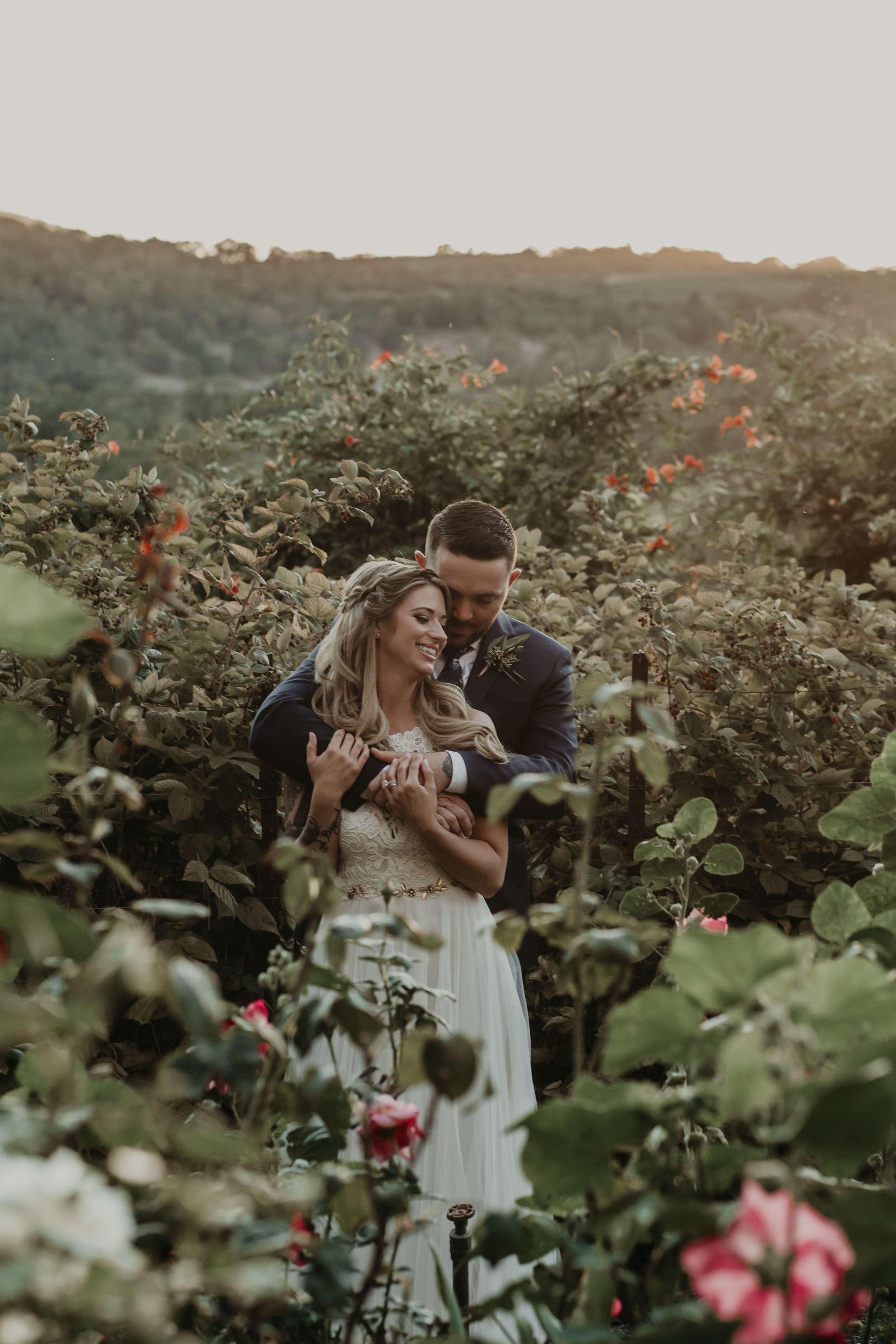 Garden wedding with beautiful floral design by Venn Floral in Glen Ellen at Beltane Ranch photographed by Vera Frances with Whitney Nelson Events and Park Avenue Catering.