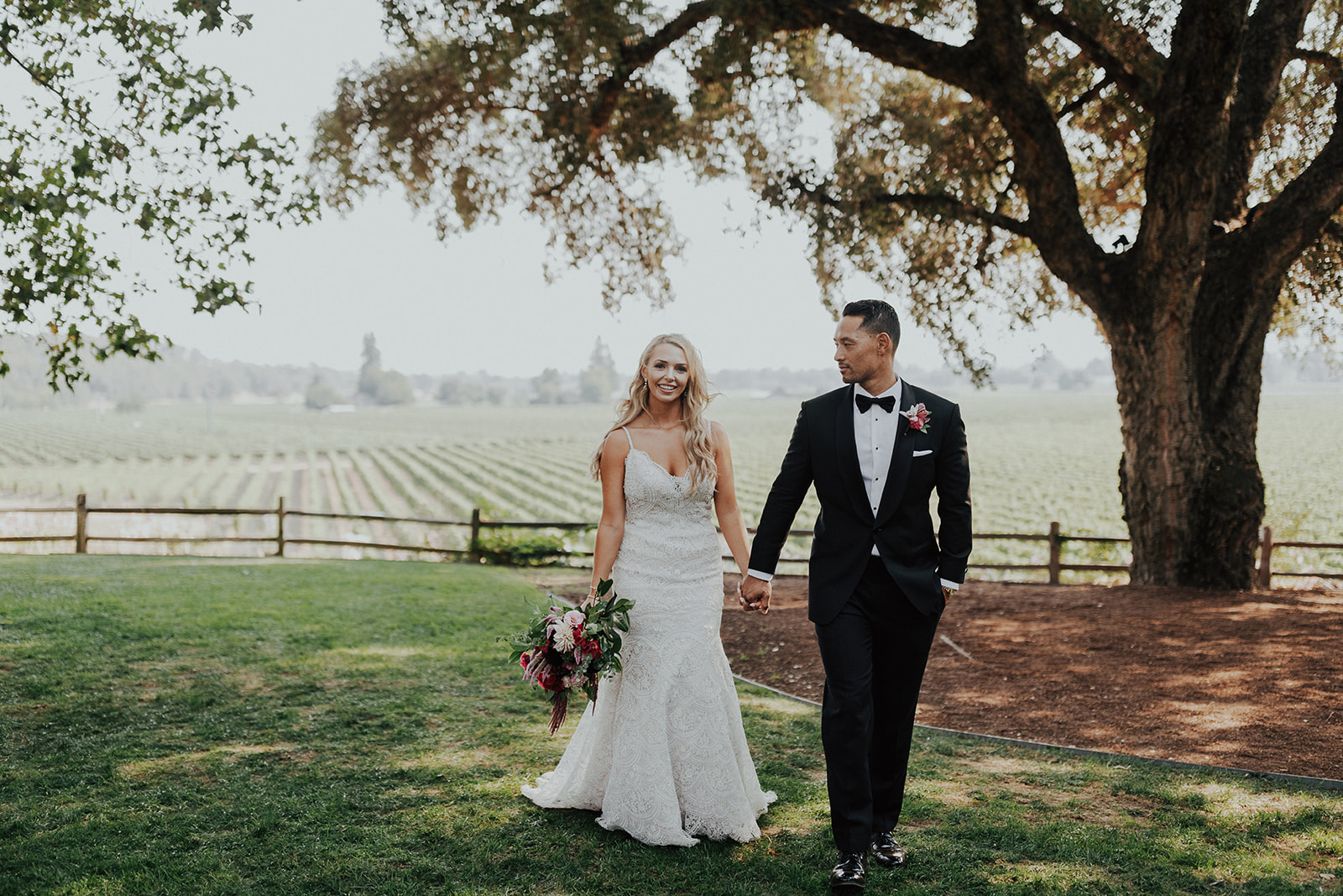 Colorful Summer wedding flowers by Venn Floral at Ru's Farm in Healdsburg photographed by Logan Cole.