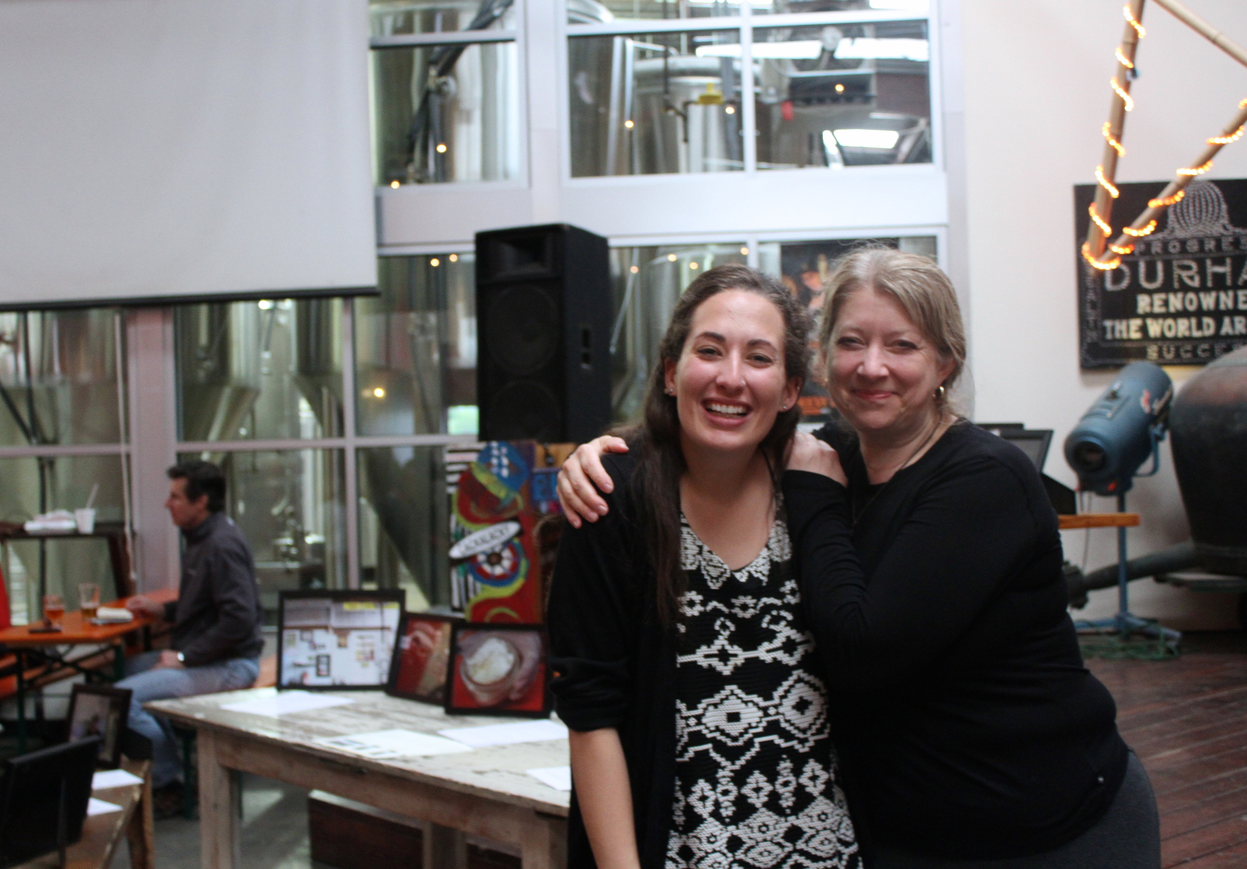 Lisa Satterwhite, my project adviser, and I in front of the display