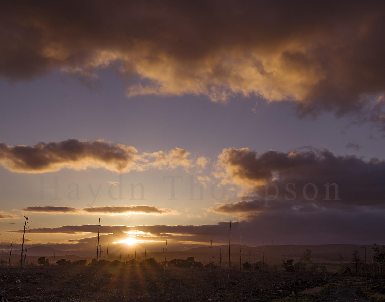 Sun Sets on Pillaged Scotland