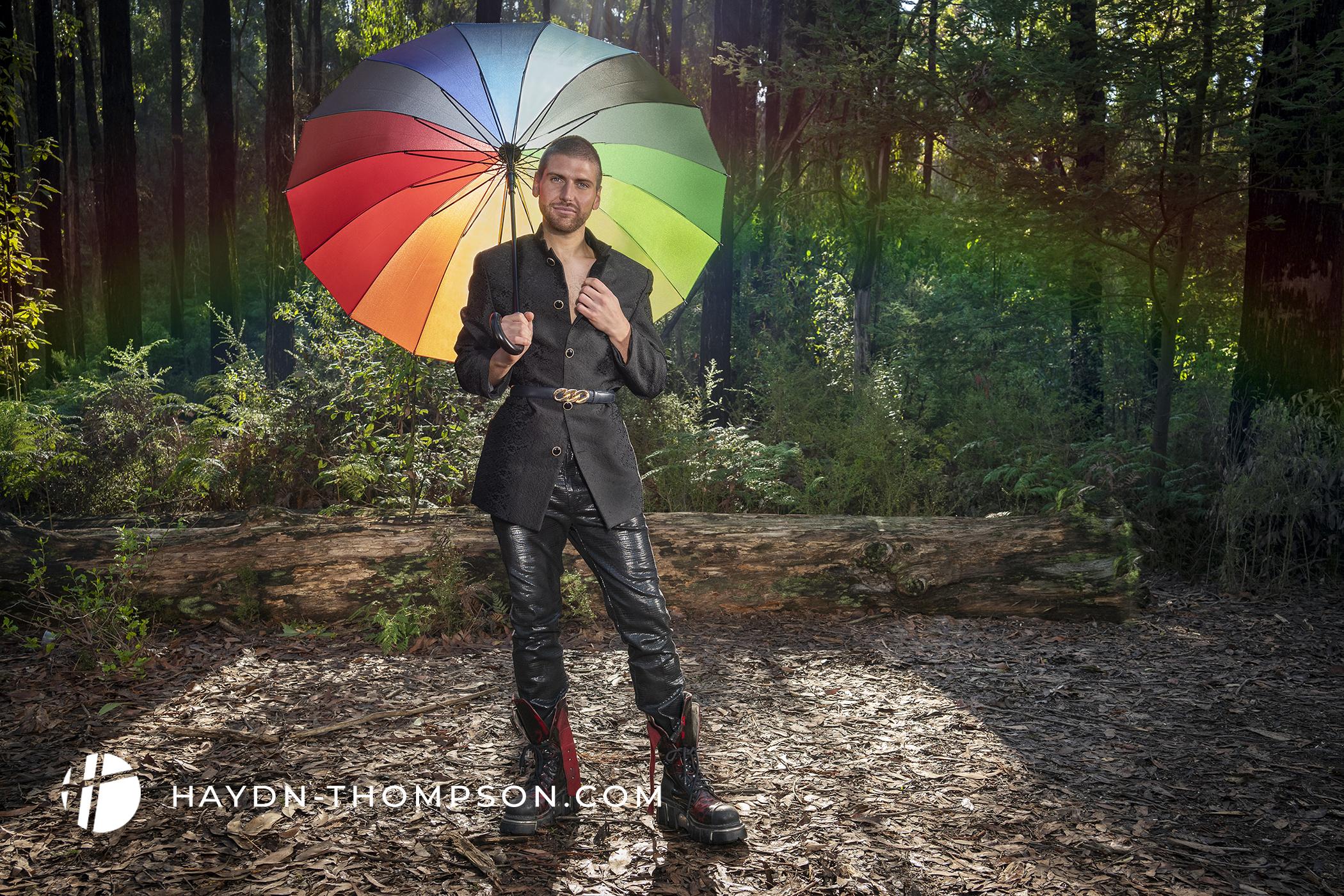 Rainbow Alignment - Black Outfit & Umbrella (Small Size - Watermark).jpg