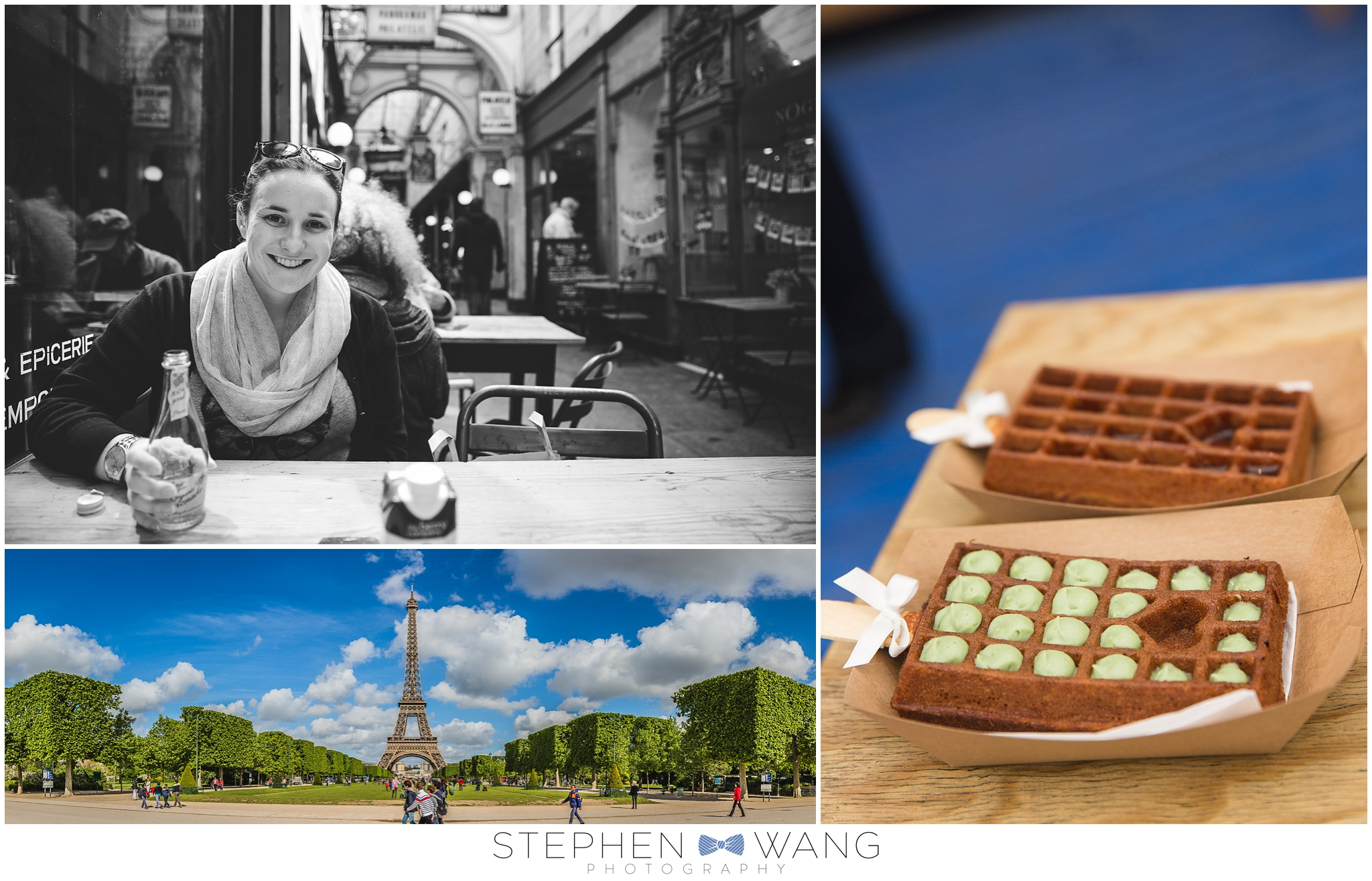 Wandering around Paris - the cafes, parks, and restaurants were all so much fun.  We ended up not going to the top of the Eiffel Tower, as the line was quite long.  But waffles with pistachio cream...yes please!