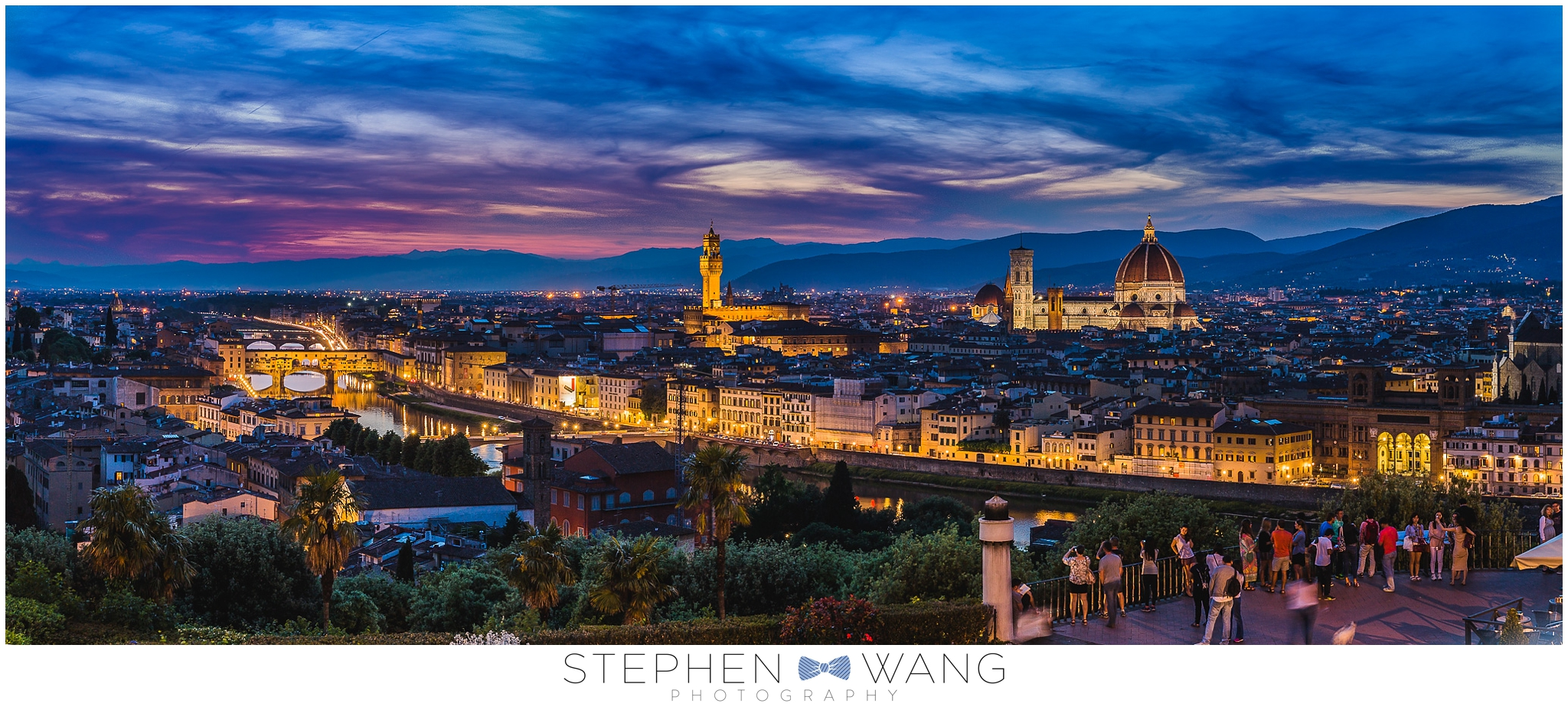 One of my favorite photos from the trip - a view of Florence from Piazzale Michelangelo at sunset.  It was a super popular spot, and for good reason.  The view was amazing.