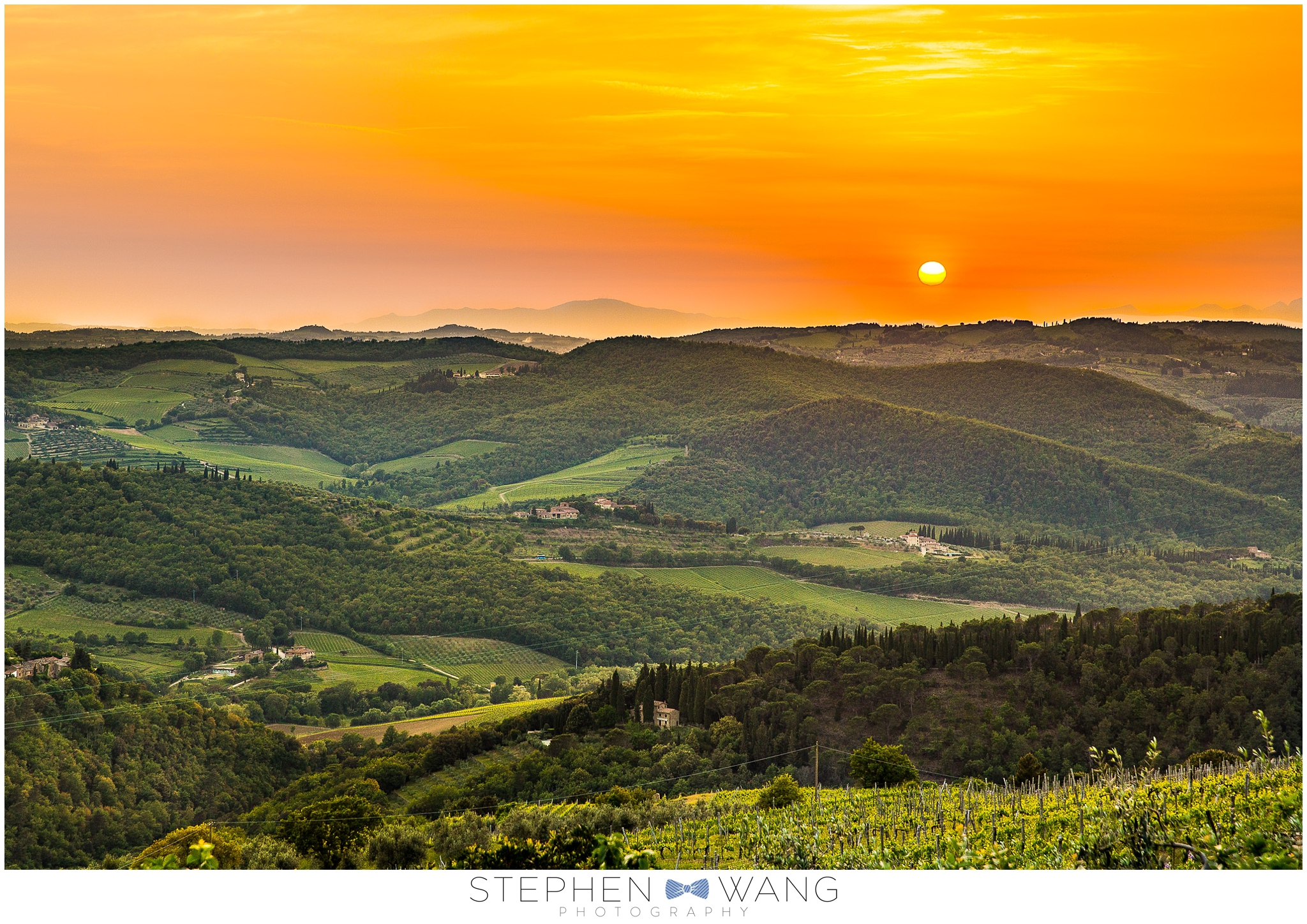 Sunsets in Tuscany are BOSS.  The restaurant we had dinner at, Ristoro di Lamole, was perched at the top of a hill, and had quite possibly the best view of any restaurant I've been to.