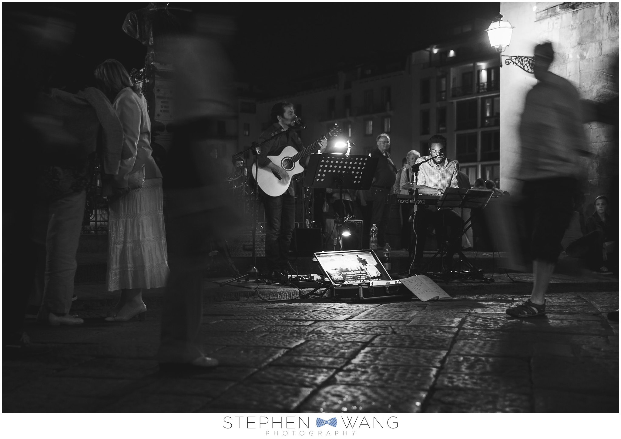We sat and enjoyed some local musicians on the Ponte Vecchio for a while on our way back from exploring the city.