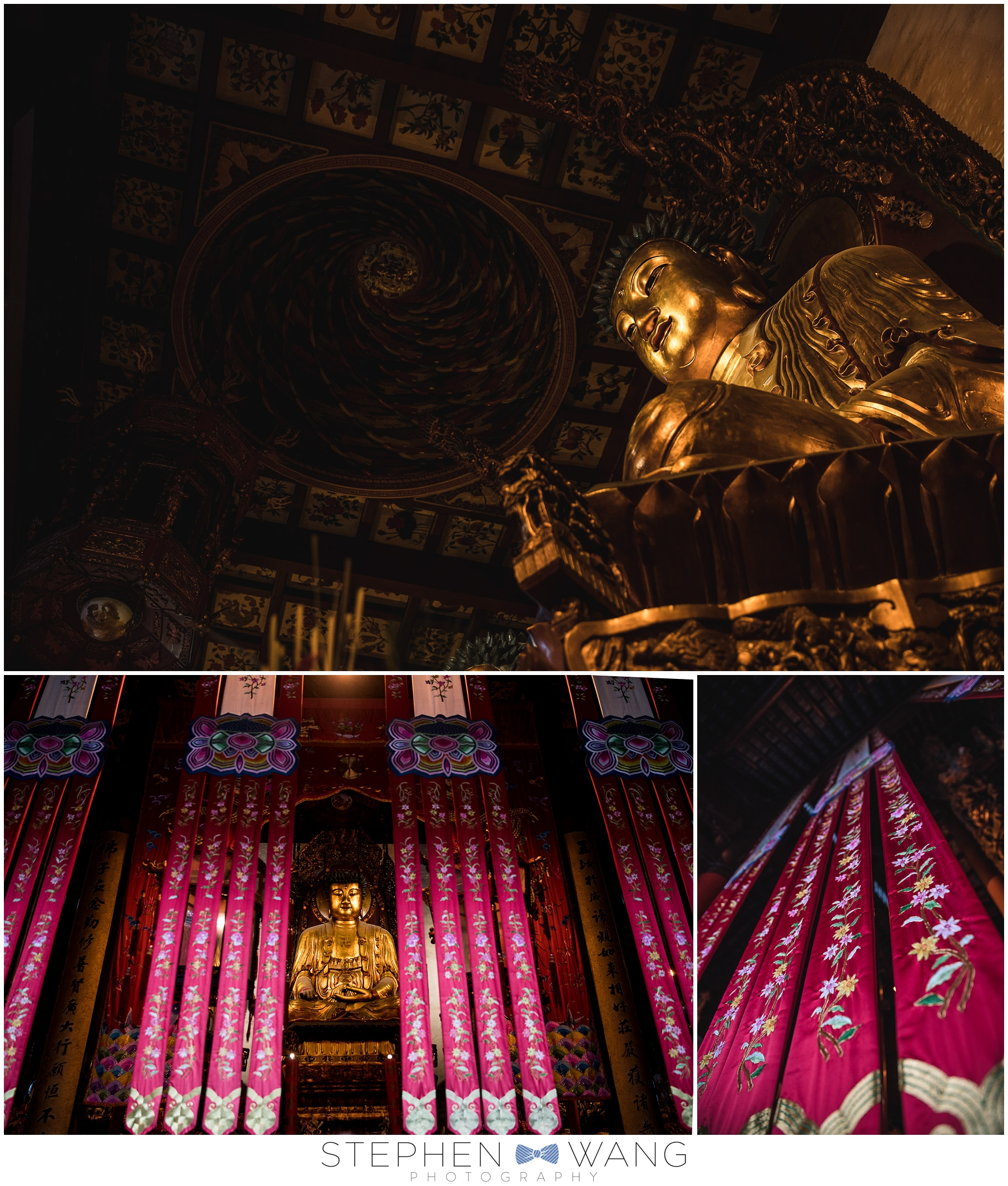One of our first stops was the Jade Buddha Temple, one of the most active Buddhist temples in Shanghai, dating back to the Qing Dynasty.  Lots of Buddha statues and tapestries.