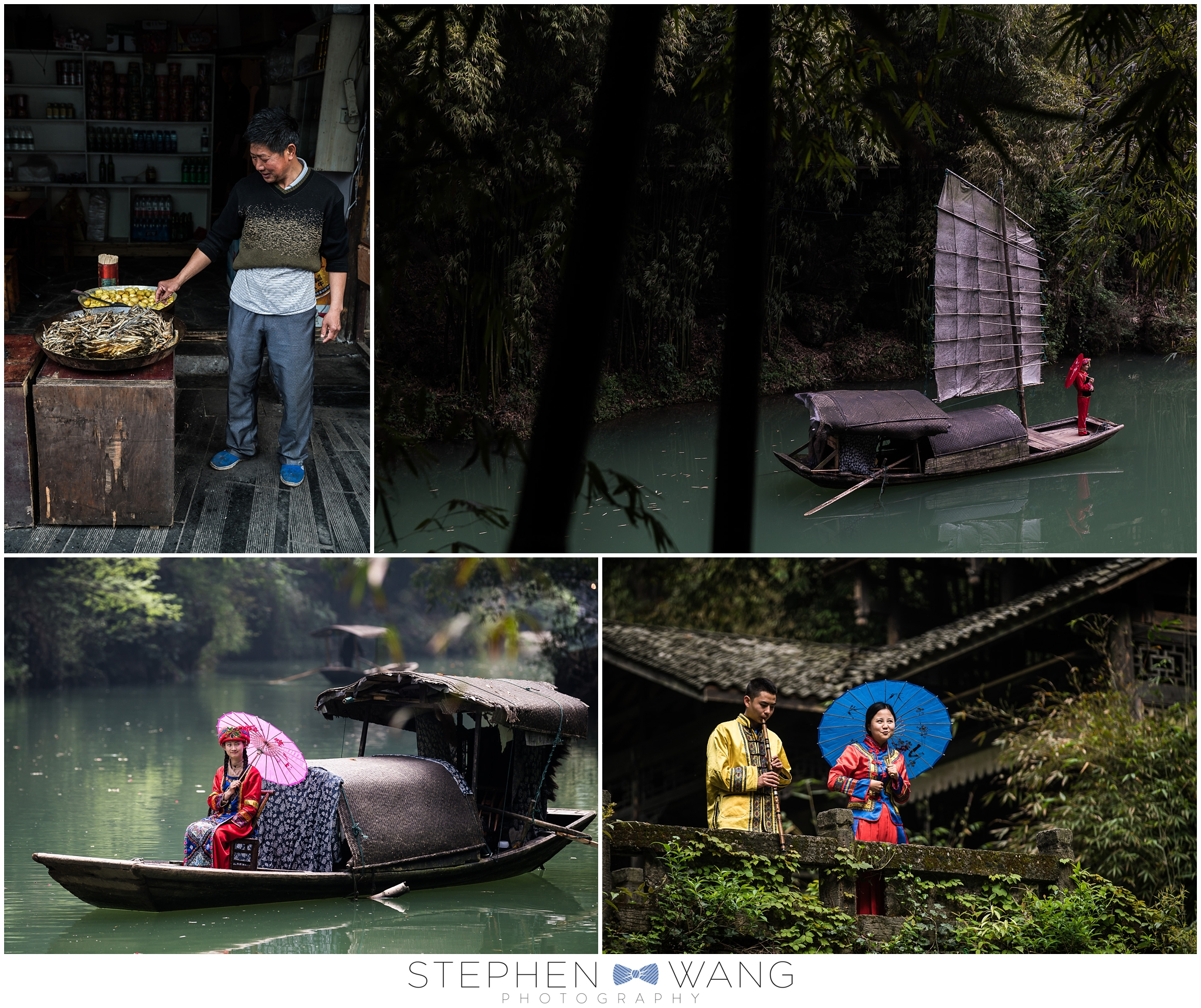 The Three Gorges Tribe walking tour had stilt houses, Chinese actors dressed in traditional clothes, and...