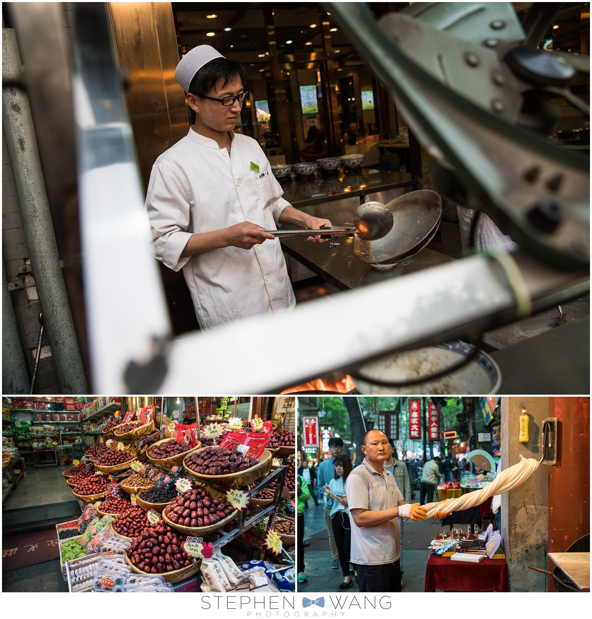 Visiting the Muslim district in Xian, and exploring a local market.  So many interesting people to see and foods to try.