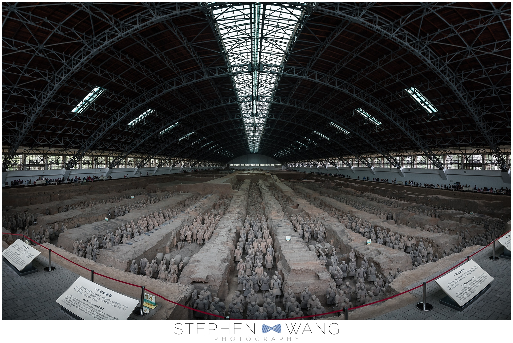 Our next stop was the archaeological site of the Terra Cotta Warriors.  8000+ life size soldiers were built for China's first emperor, Qin Shi Huang, to protect him during the afterlife.  A farmer discovered them in 1974 and was compensated about $5 and a basket of eggs.  Pretty raw deal for the farmer if you ask me.
