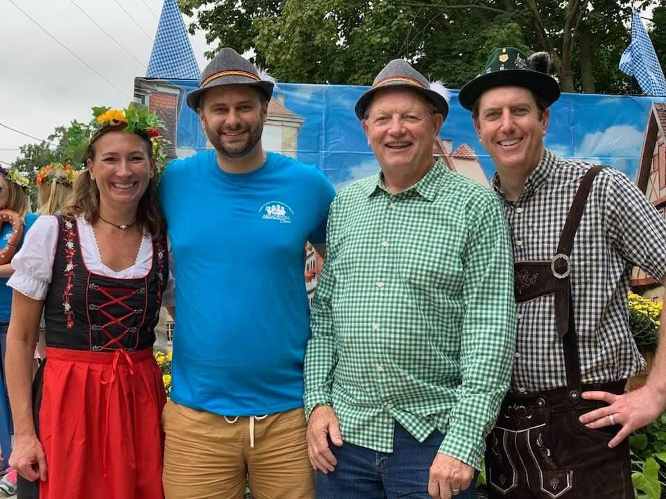 Dr. Alexa Keegan, Dr. Thomas Pausma, Dr. Bruce Thomas, and Dr. Jarrod Thomas at the Gemuetlichkeit Days Parade.