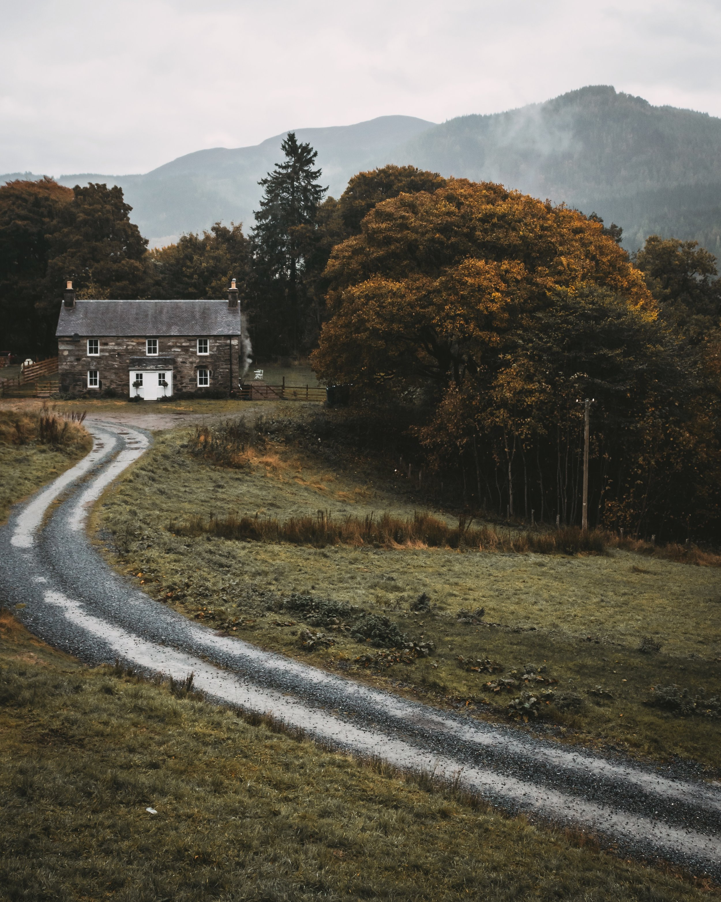 a quiet house in the highlands of Scotland by @davidtfbarry
