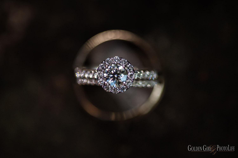 Wedding bands detail closeup