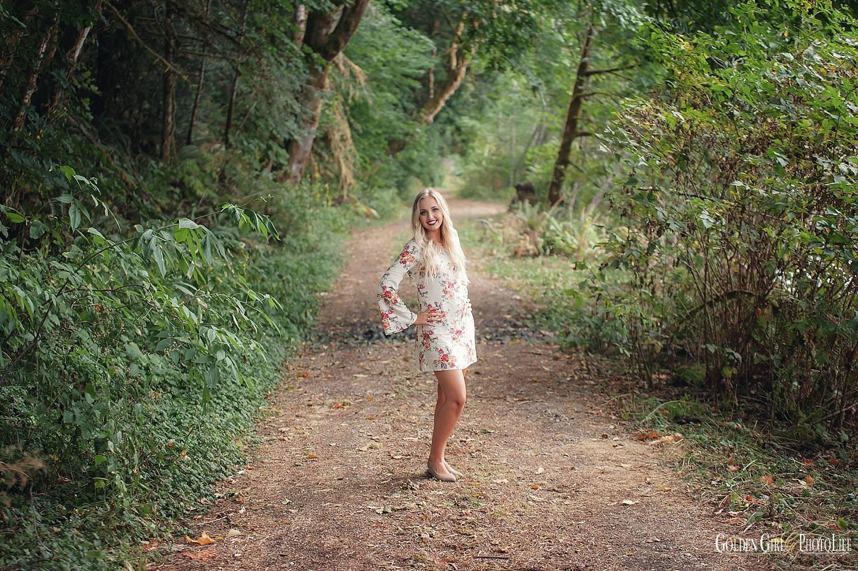 CKHS senior fashion photographer forest photo