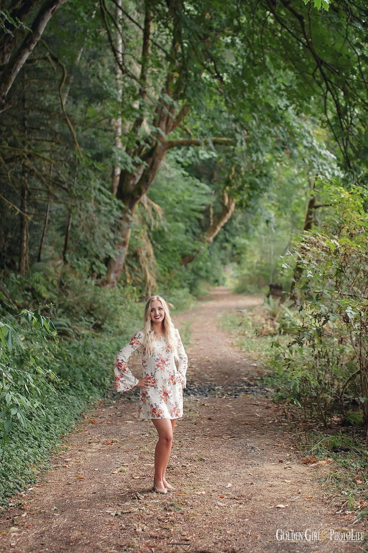 NKHS Poulsbo senior fashion photographer forest photo