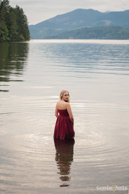 Central Kitsap High School senior pictures beach water photo