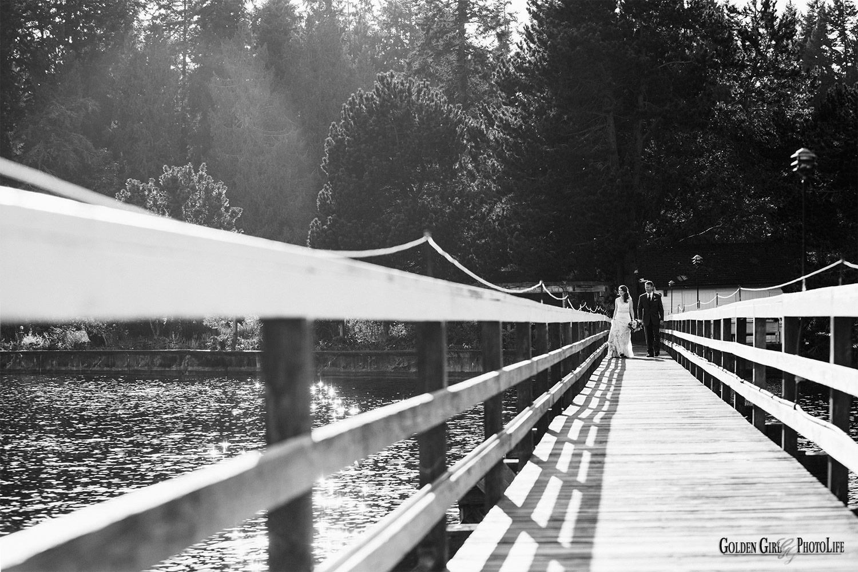 Kiana Lodge waterfront wedding | sunlight on the water