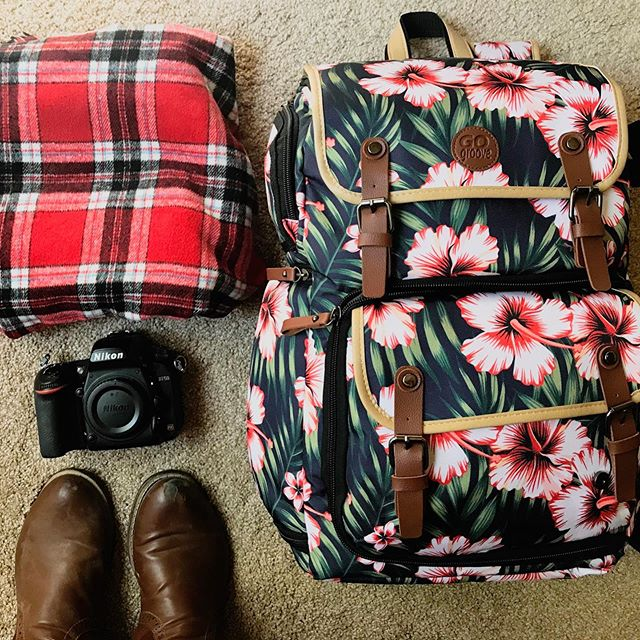 Oh hey! I've got my camera gear, boots and best plaid packed...I must be on my way to Seattle!! 💙📸🌲 #pnw #weddingday #seeingmytribe