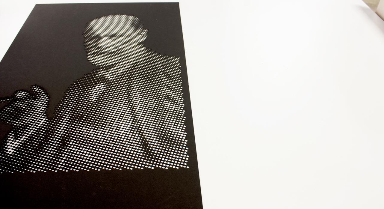 Laser cut  Sigmund Freud