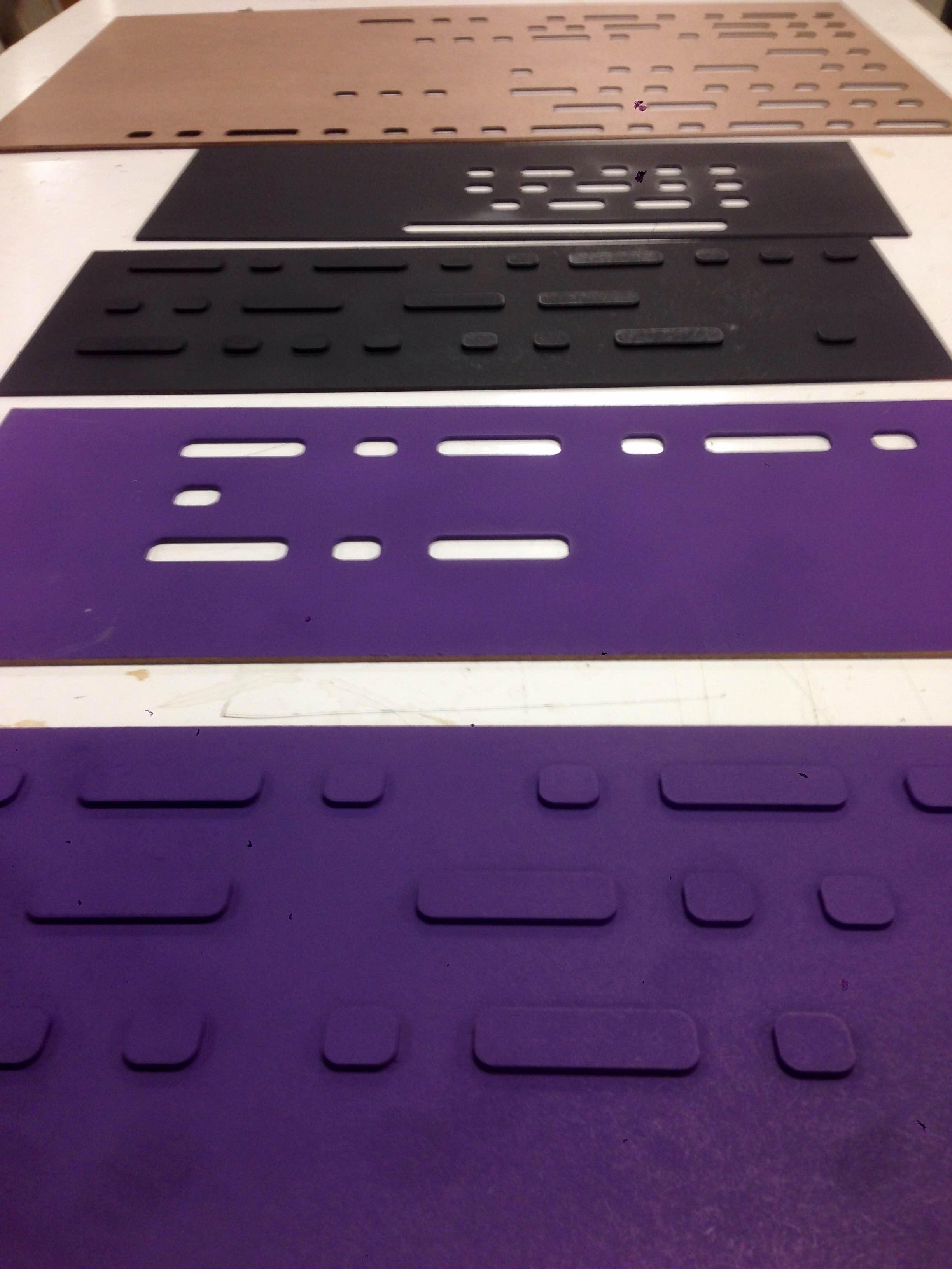 Laser cut morse code