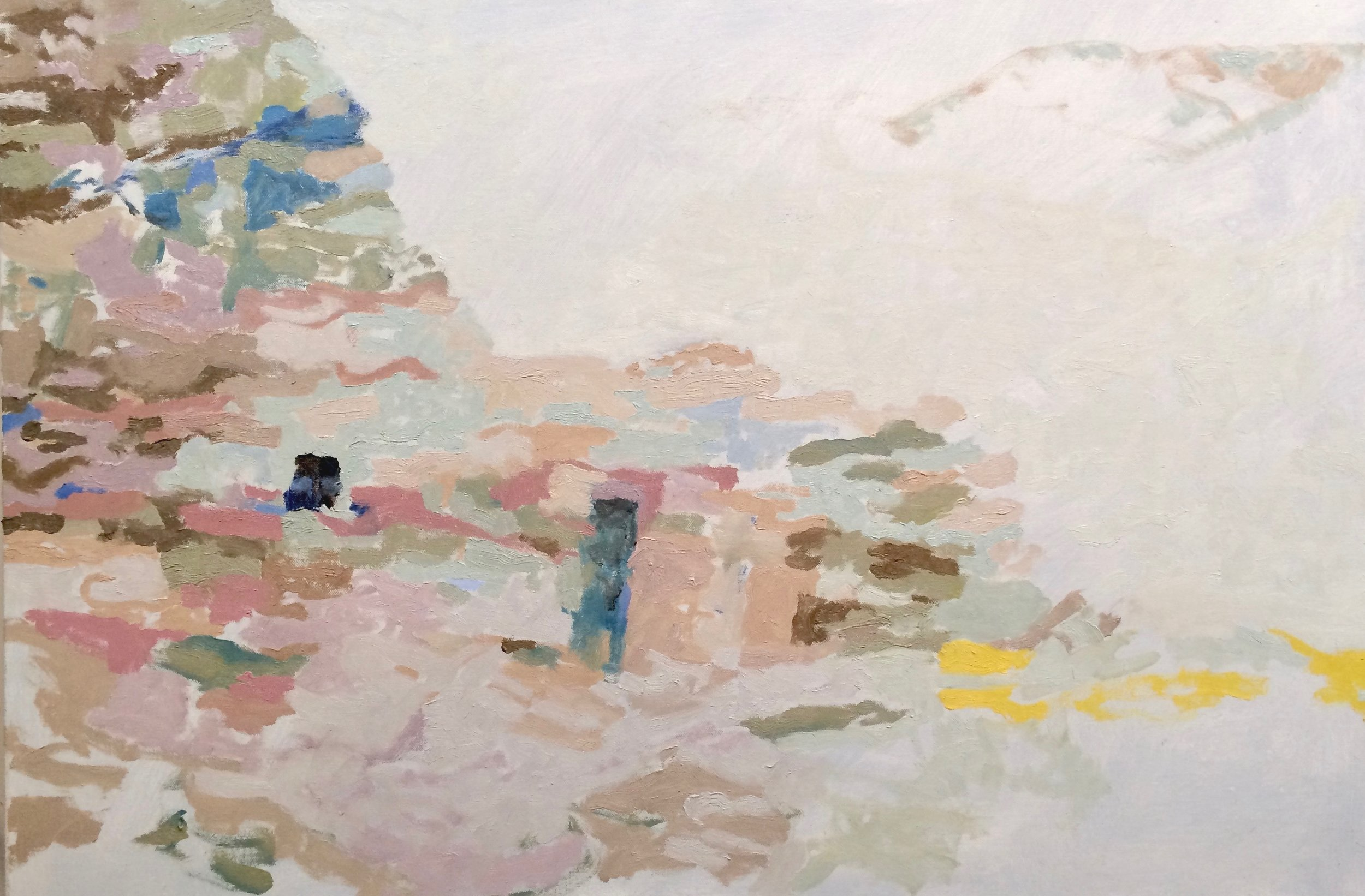 Y Aquí Me Quedo - 2018  24 x 30 inches  oil on canvas