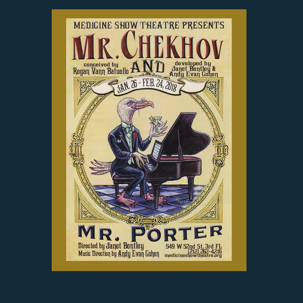 Commissioned poster art for an off Broadway musical mash-up of Chekhov and Cole Porter.