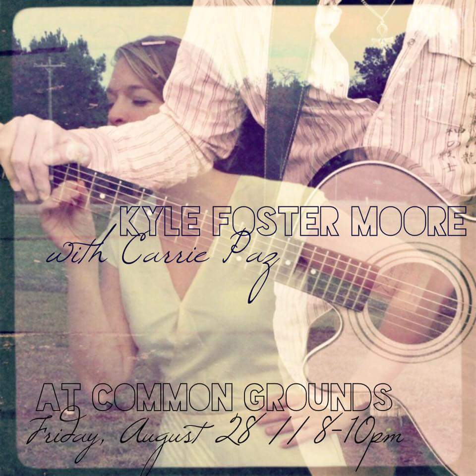 Friday, August 28 :: 8-10pm at Common Grounds in Greensboro, NC