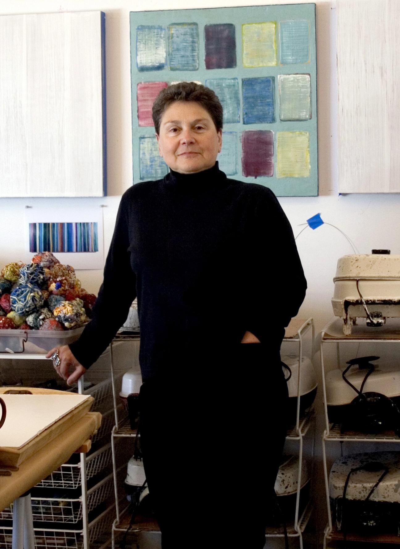 Joanne Mattera in her studio.jpg