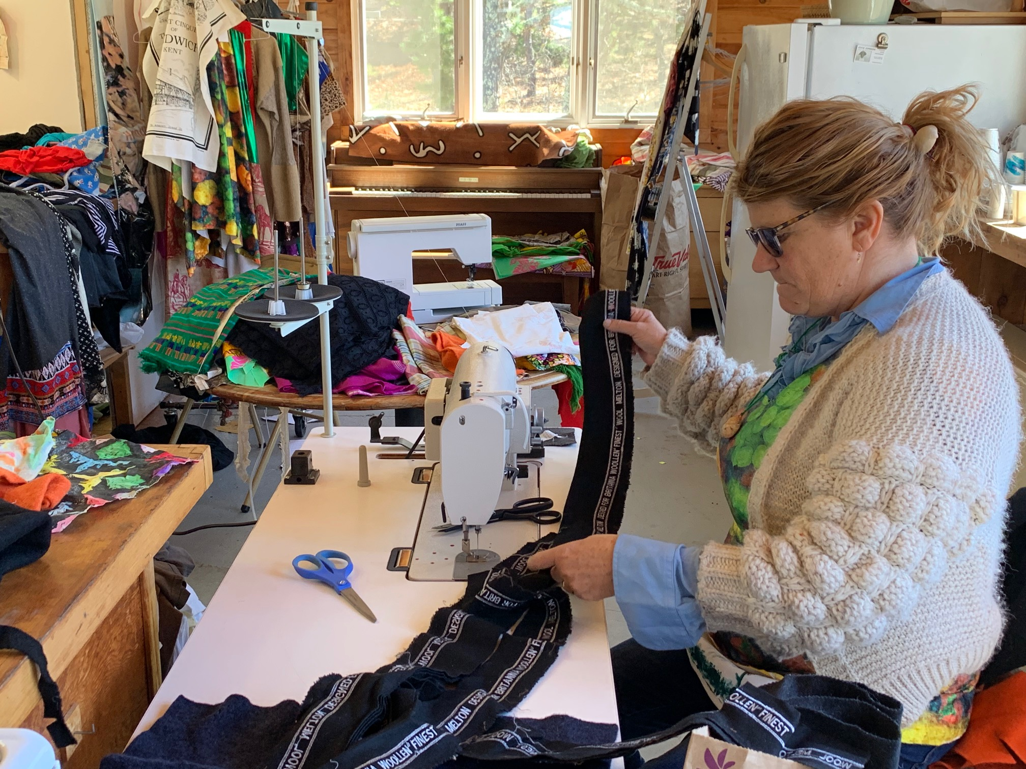 Sarah Kain, fiber artist, clothes designer