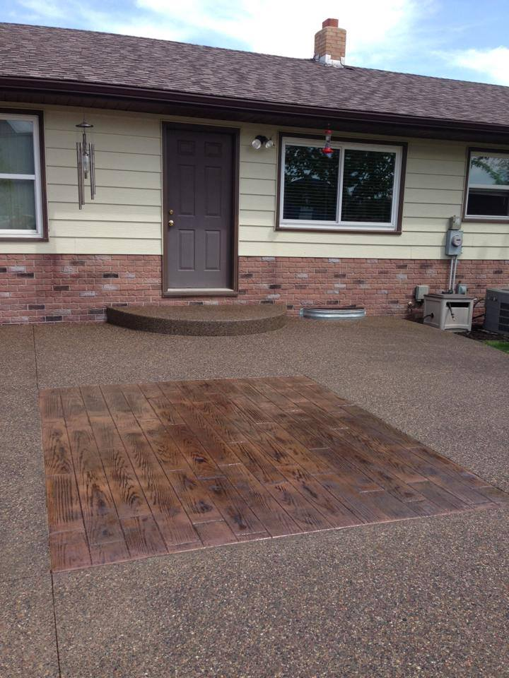 Board Stamped Patio