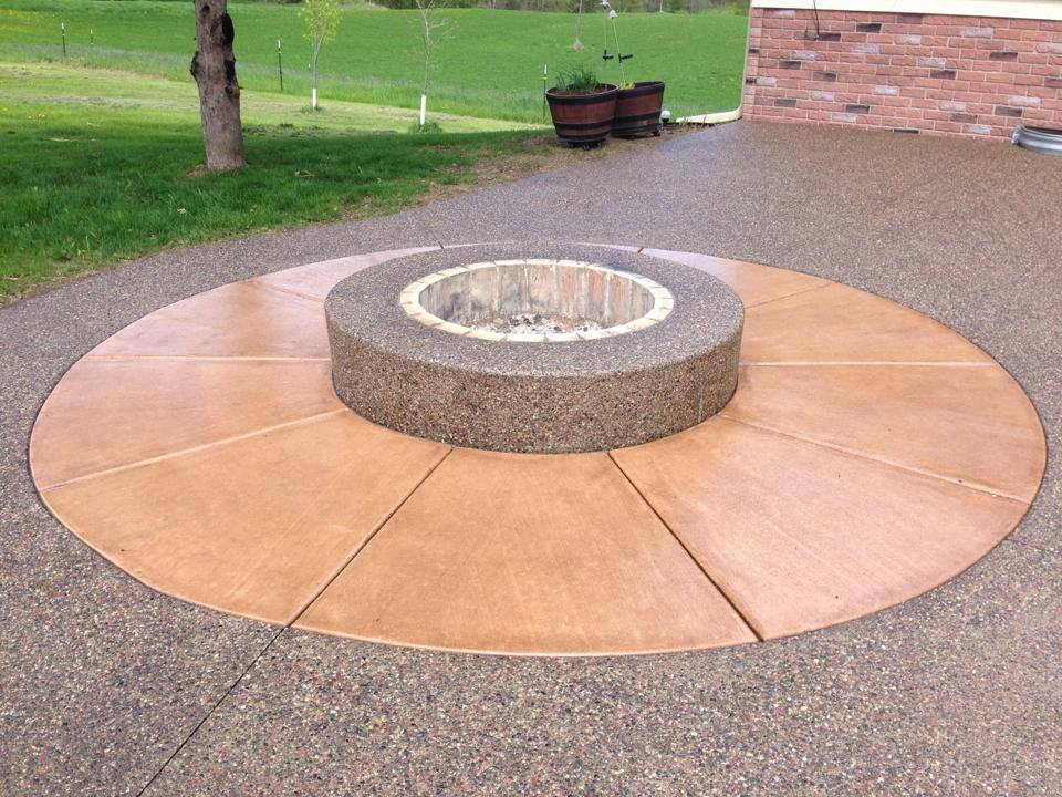 Custom Exposed Aggregate Fire Ring