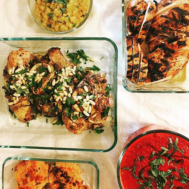 Delivery day.  Split chickpea dhal.  Roast chicken w/ za'atar, sumac & lemon (@ottolenghi). Balsamic grilled chicken.  Roasted beet soup.  Sweet potato & quinoa burgers. . . . #personalchef #deliveryday #healthy #vegetarian #chicken #chichpeas #sweetpotato #beets #sumac #ottolenghicookbook #alwaysfire #chefforhire #spoonfull #spoonfullboston