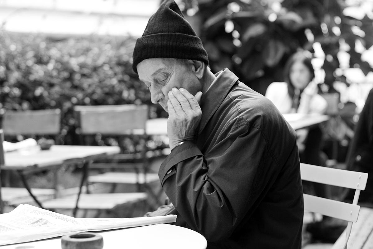 Italian Man at Cafe, 2015.