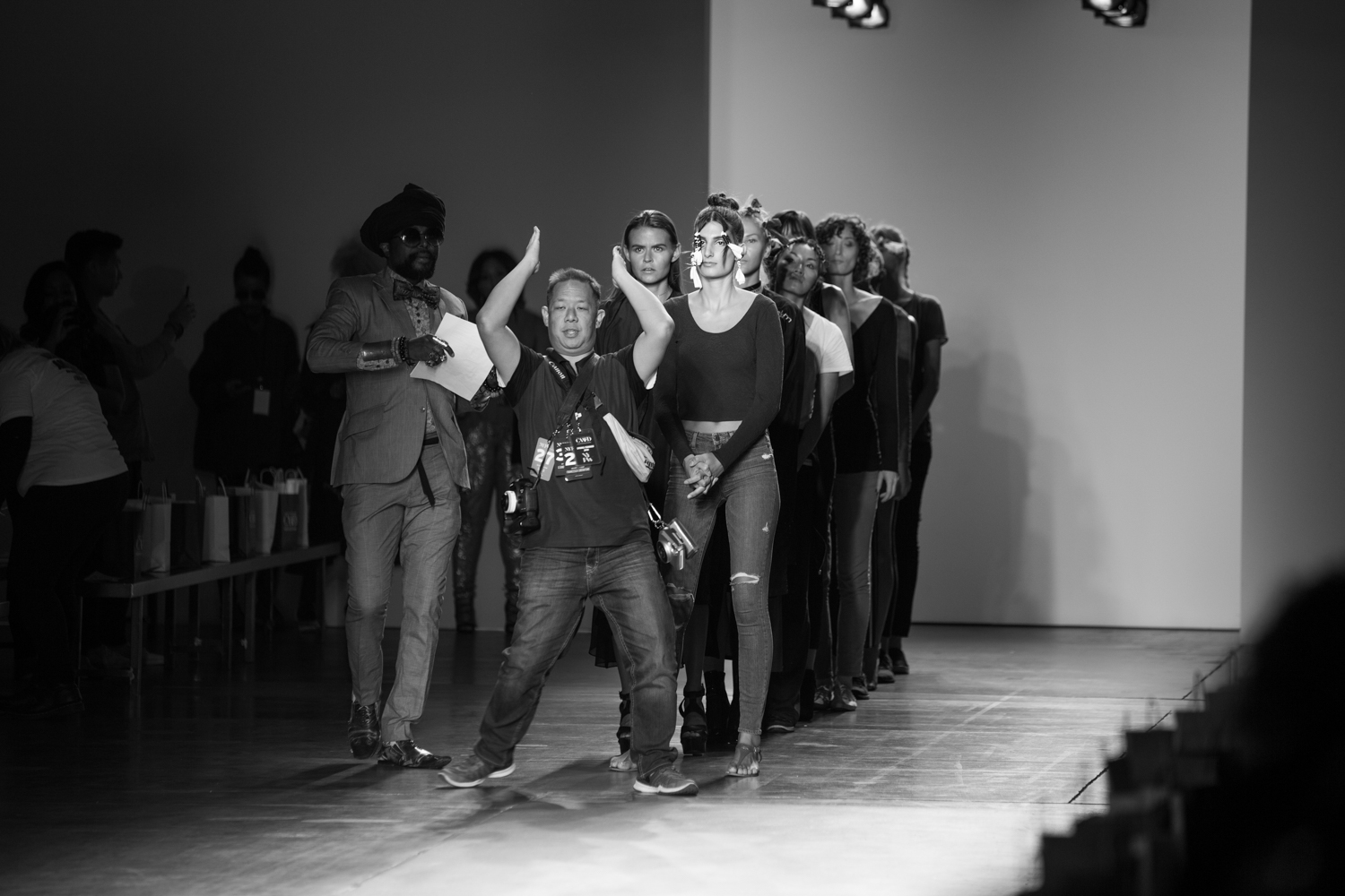 Runway rehearsals for the CAAFD Emerging Designers Show.