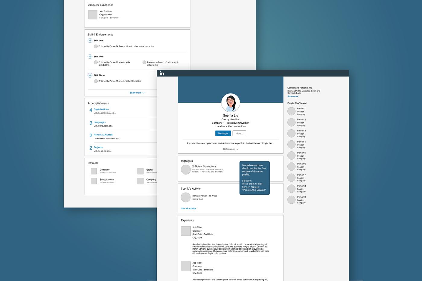 """UI/UX Design: """"Linkedin for Creatives"""" Redesign"""
