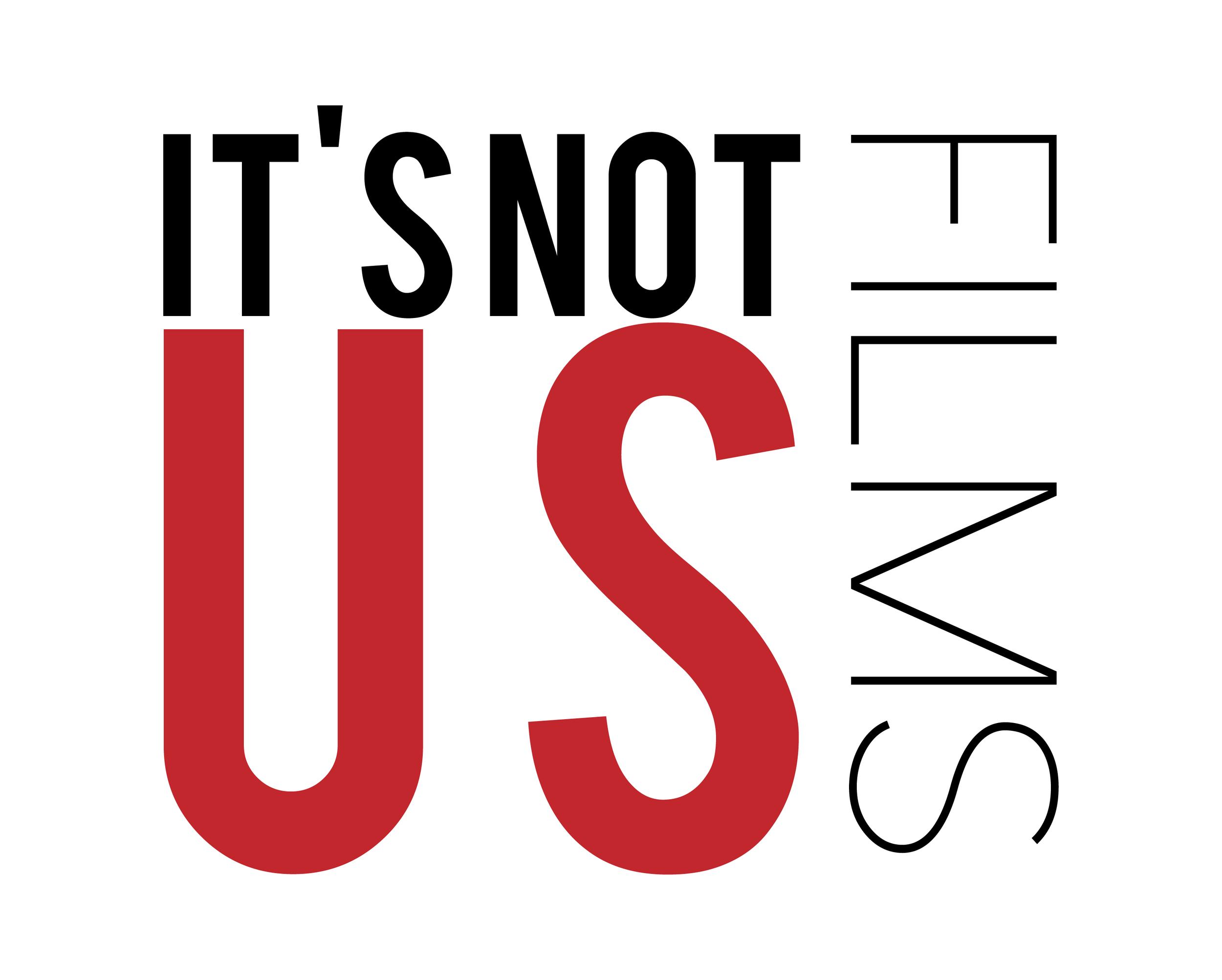 It's Not Us Logo