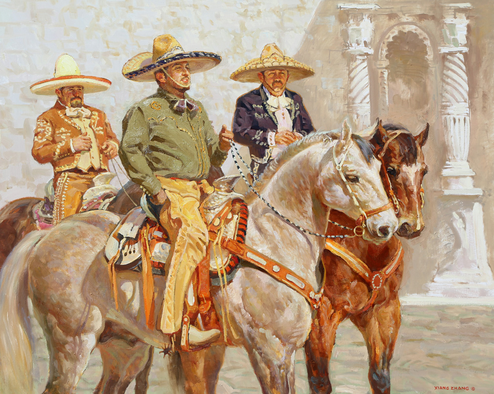 "Three Amigos 32"" x 40"" SOLD"