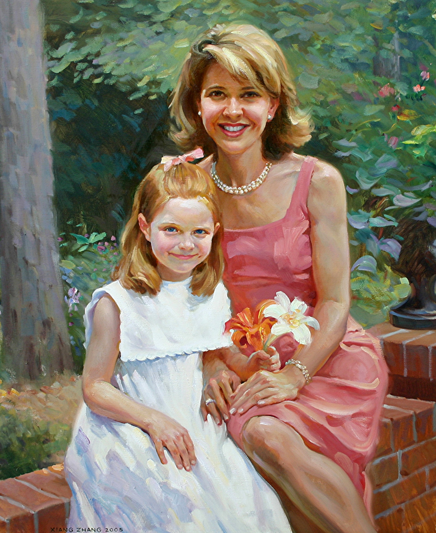 """Mother and Daughter 40"""" x 32"""""""