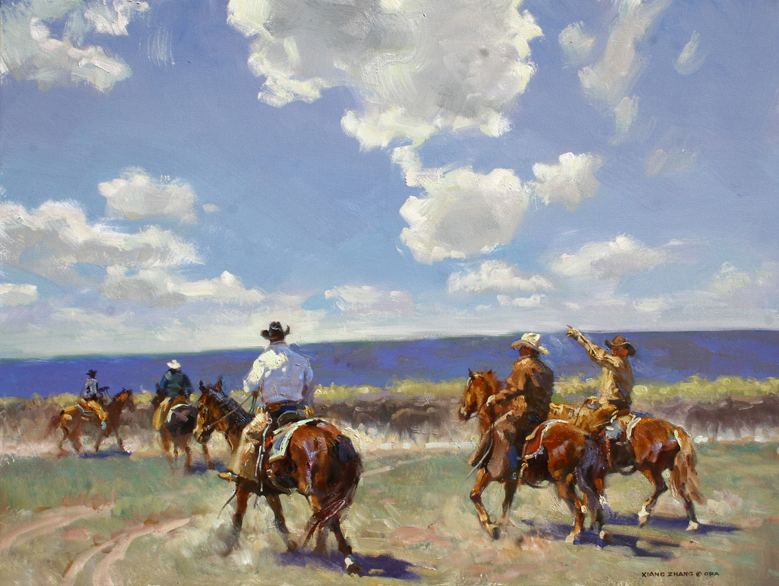 "Head 'em Up 30"" x 40"" SOLD"