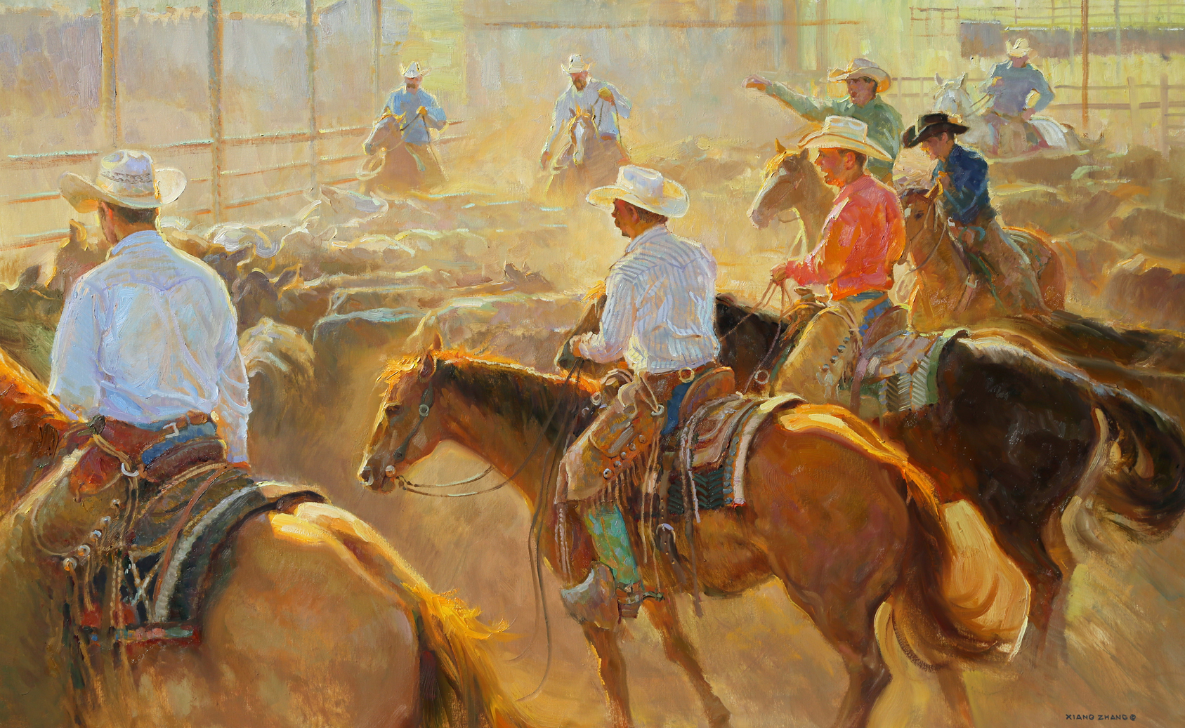 "Herding Traffic 28"" x 45"" SOLD"