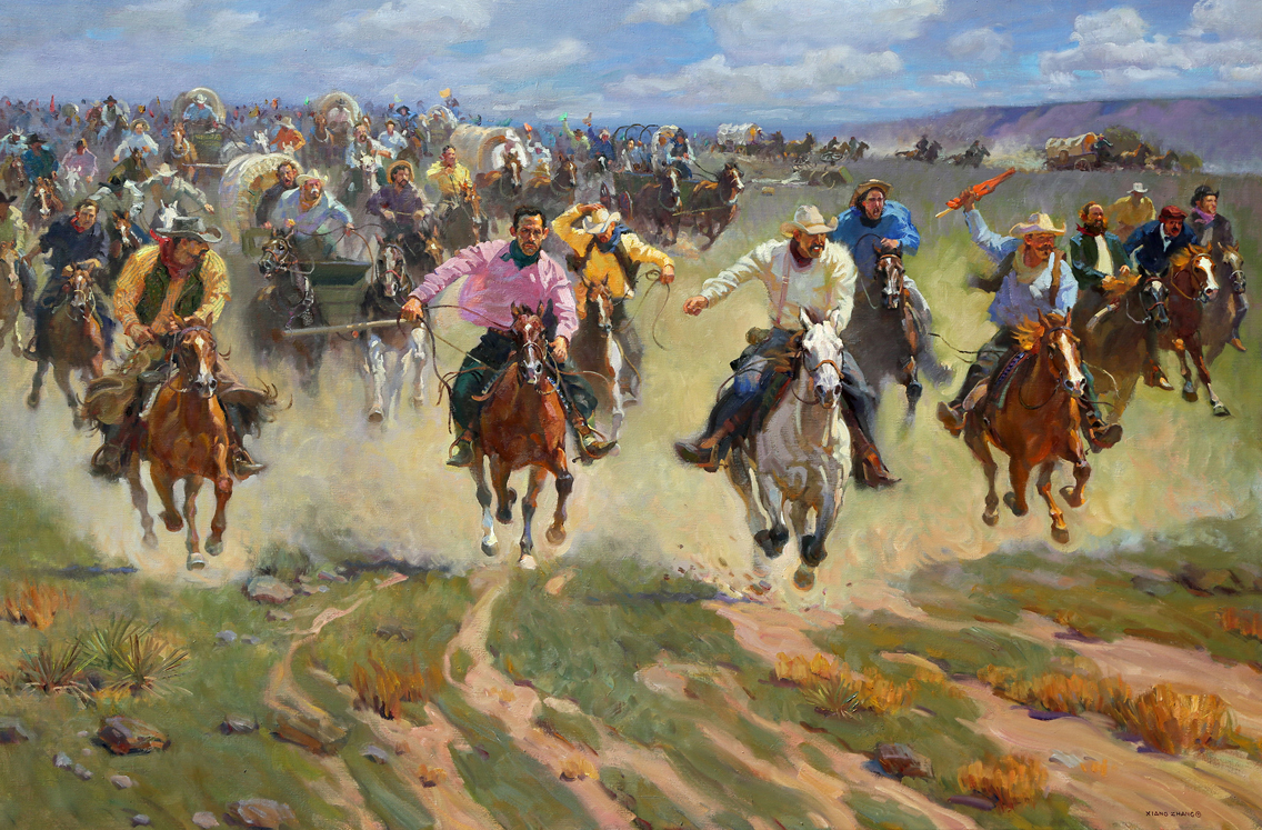 """Race to the American Dream (48""""x72"""")"""