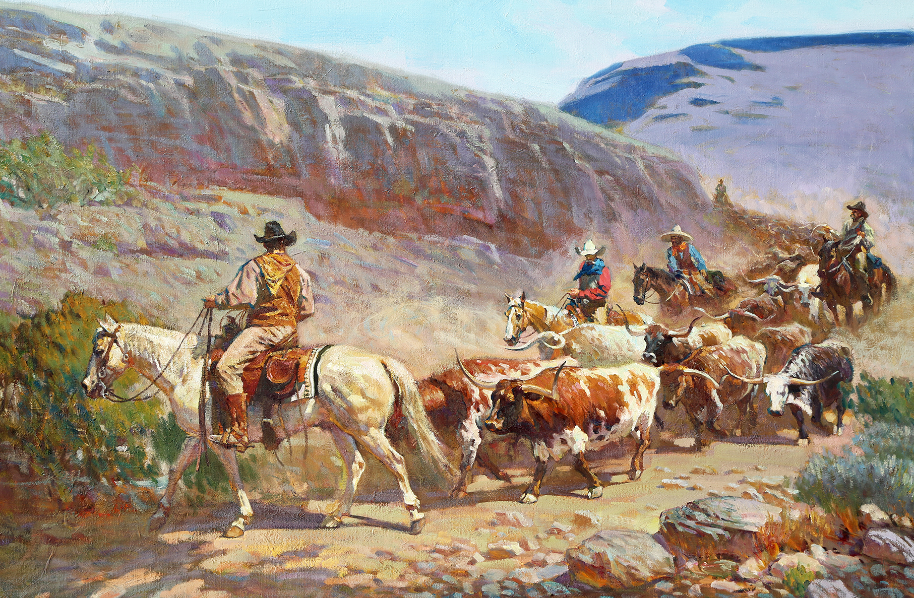 "Dusty Canyon Drive 40"" x 60"""