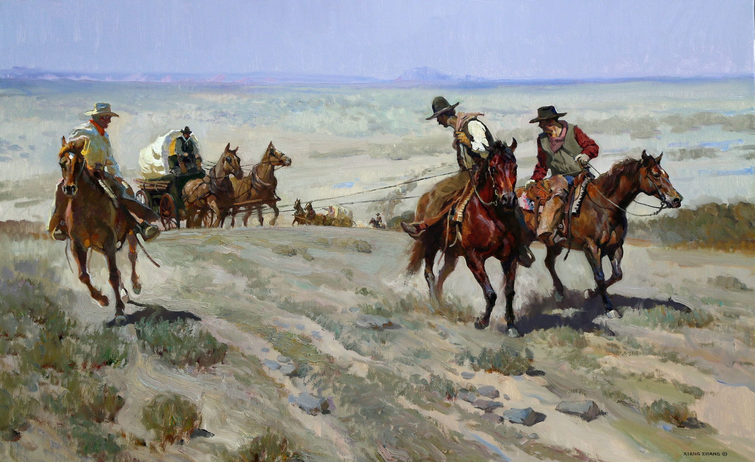 "The Tough Journey 28"" x 45"" SOLD"