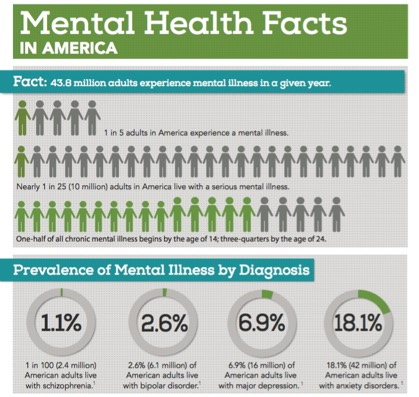 More Statistics:  Mental Health By The Numbers
